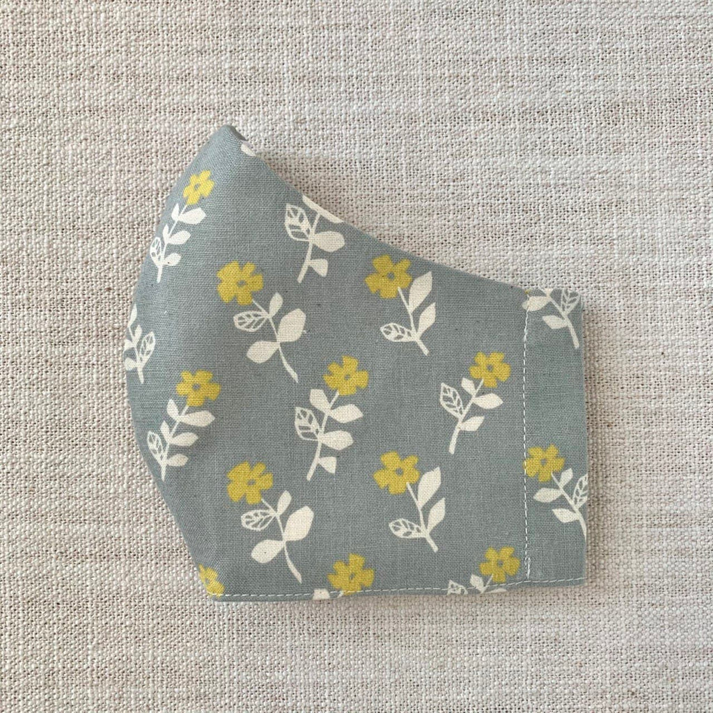 *In Stock* Cloth Masks (Adult & Child) - Mustard Flowers