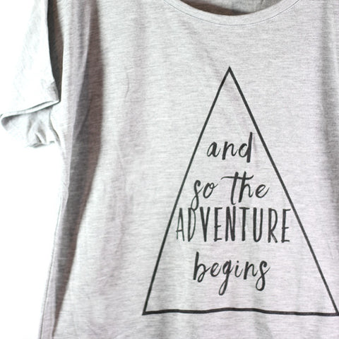 Adventure Begins - Slouchy Tee