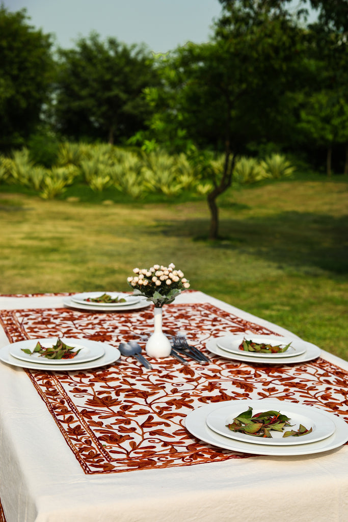 Square - Pecan Candy Tablecloth