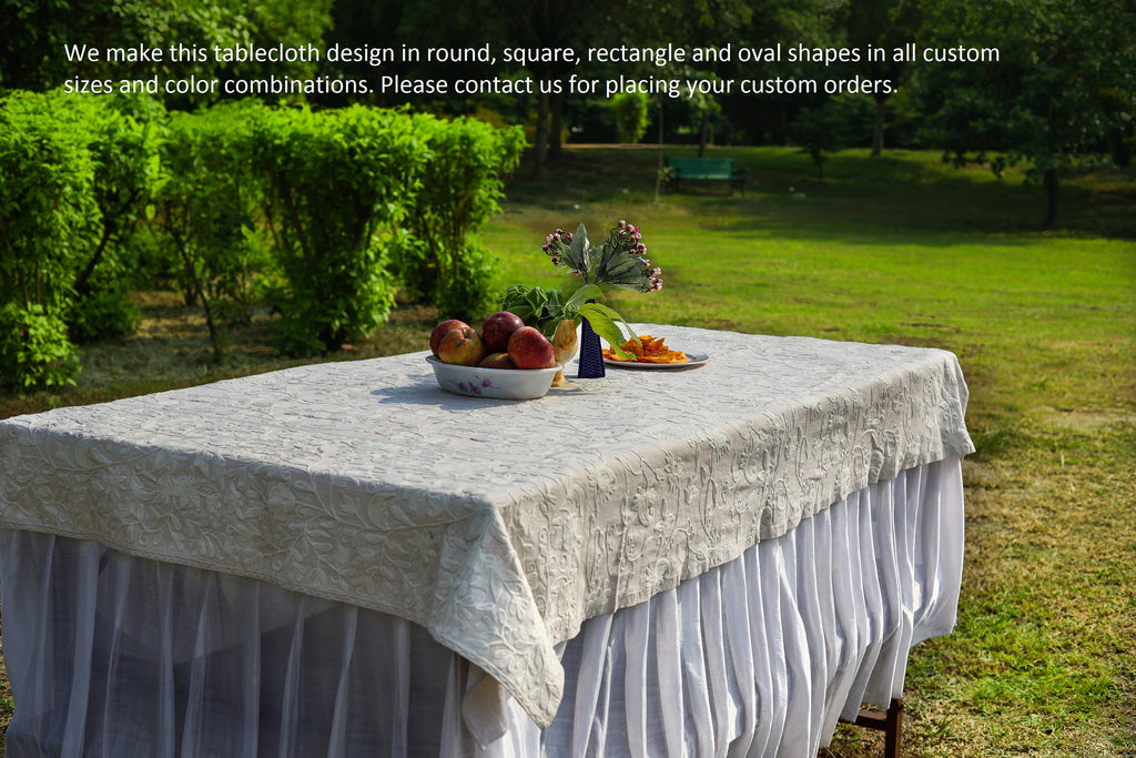 Square - Eggshell Tablecloth