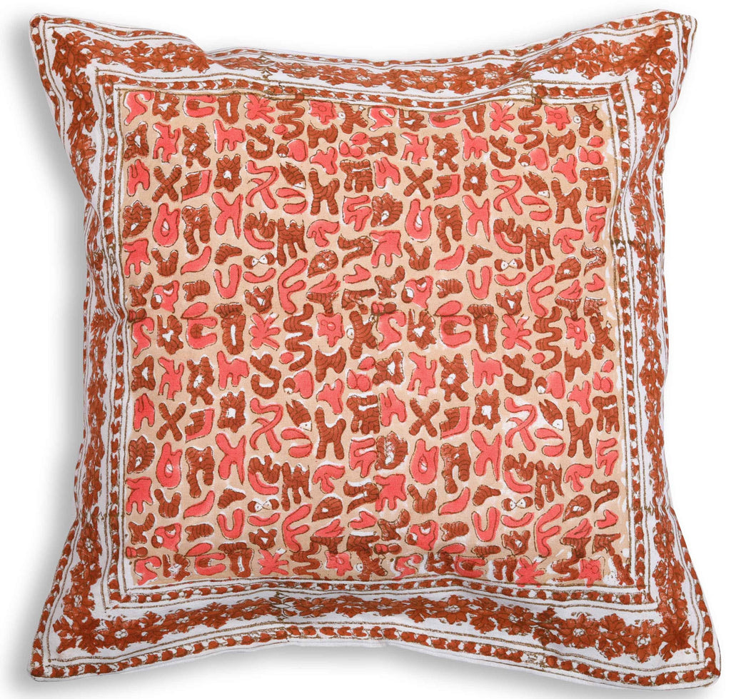 Reverbration – Block Print Cushion Cover