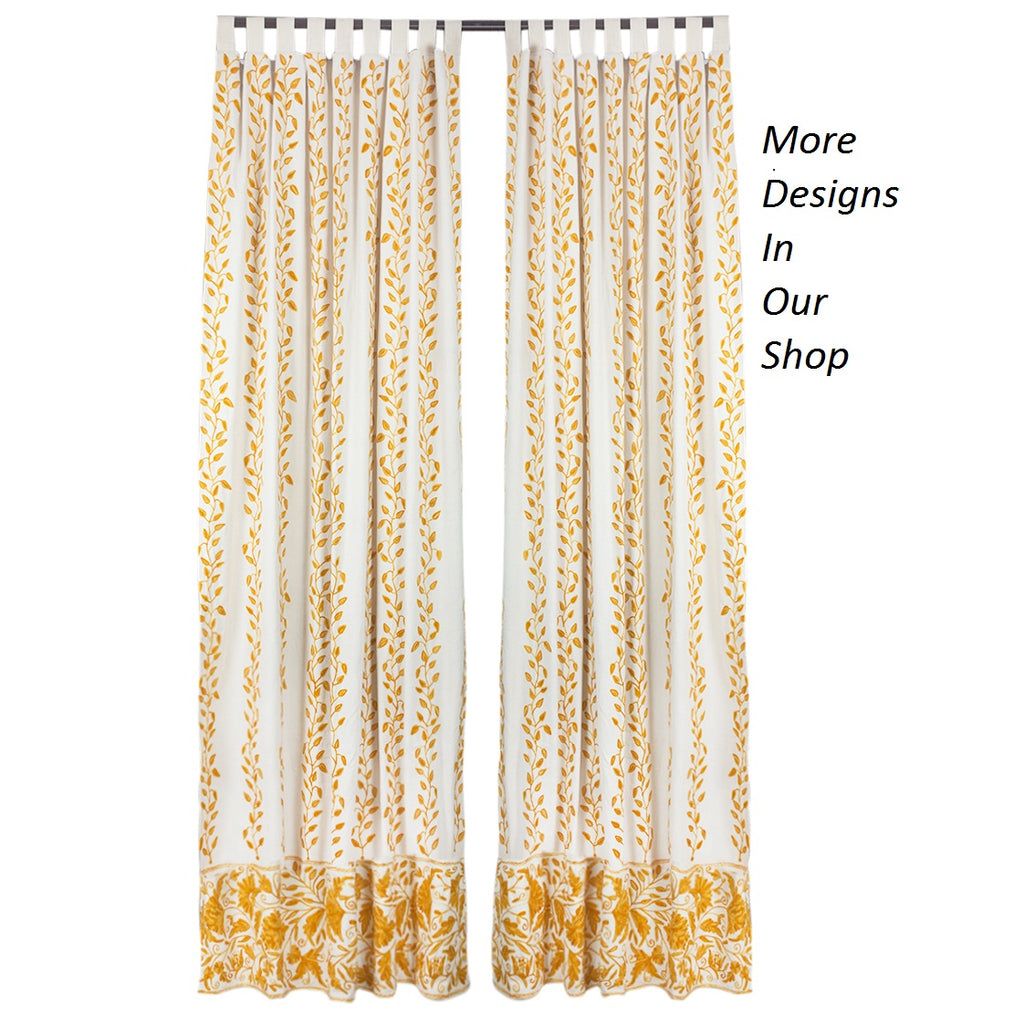 Budding Blossom Curtains - Custom Made