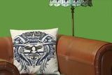 The Bora Bora - Custom Embroidered Pillow Cover