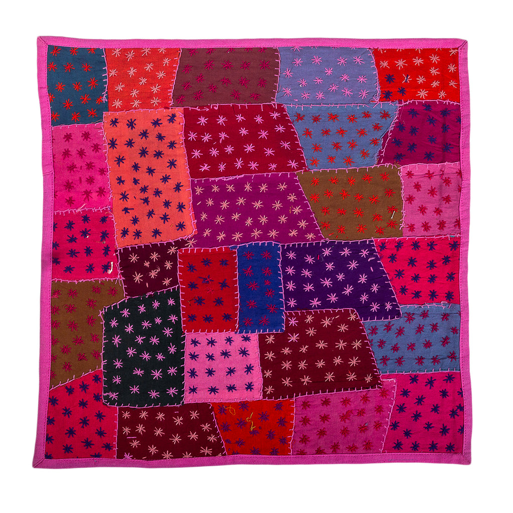 50 Shades of Pink – Vintage Patchwork Cushion Cover