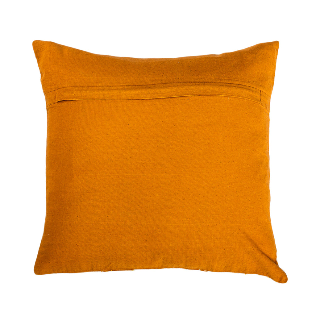 The Mustard Triumph - Kantha Cushion Cover