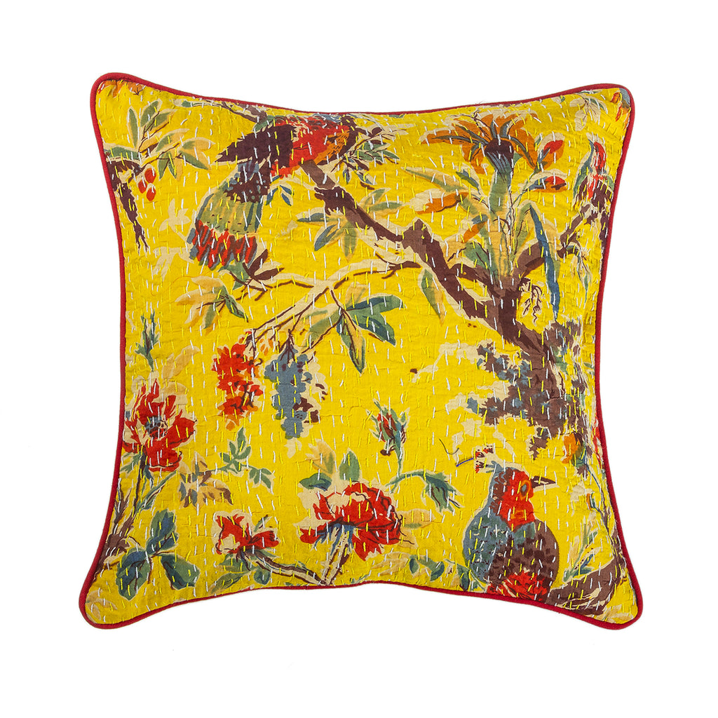 The Amber Captivation - Kantha Cushion Cover