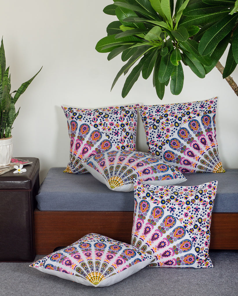 Mandala Cotton Indian Throw Pillow Cover Sets