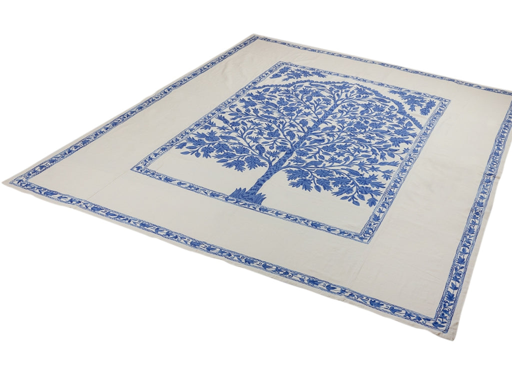 Oval Blue Tree Of Life Tablecloth