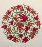Oval Autumn Leaves Tablecloth