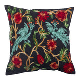 The Prancing Peacocks - Custom Embroidered Pillow Cover