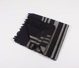 Colonial Charcoal - Handloom Cotton Blanket