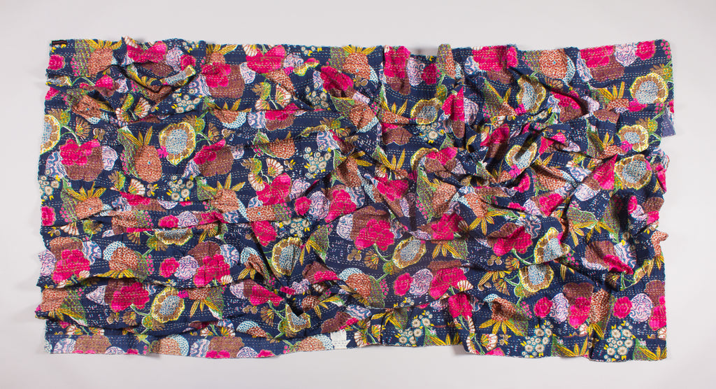 The Elastic Heart – Kantha Throw