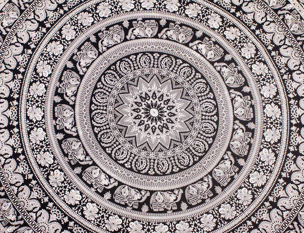Young, Wild and Free - Mandala Round Beach Blanket