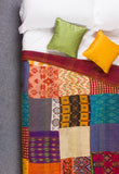 The Congo Patchwork - Kantha Silk Quilt