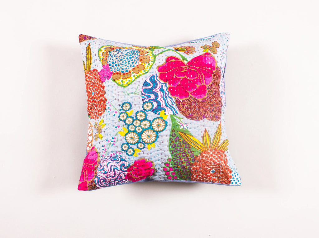 The Brown Bliss - Kantha Cushion Cover