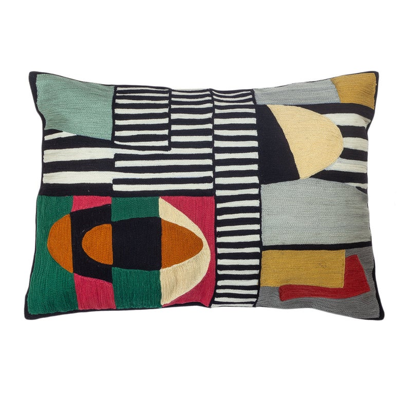 The Colorblock Cavalry - Custom Embroidered Pillow Cover
