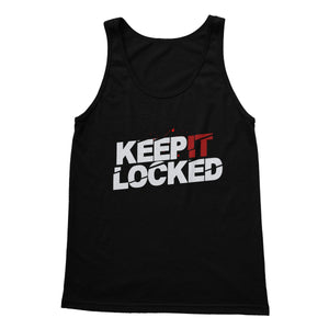 Simon Hill Keep It Locked Blood Logo Softstyle Tank Top
