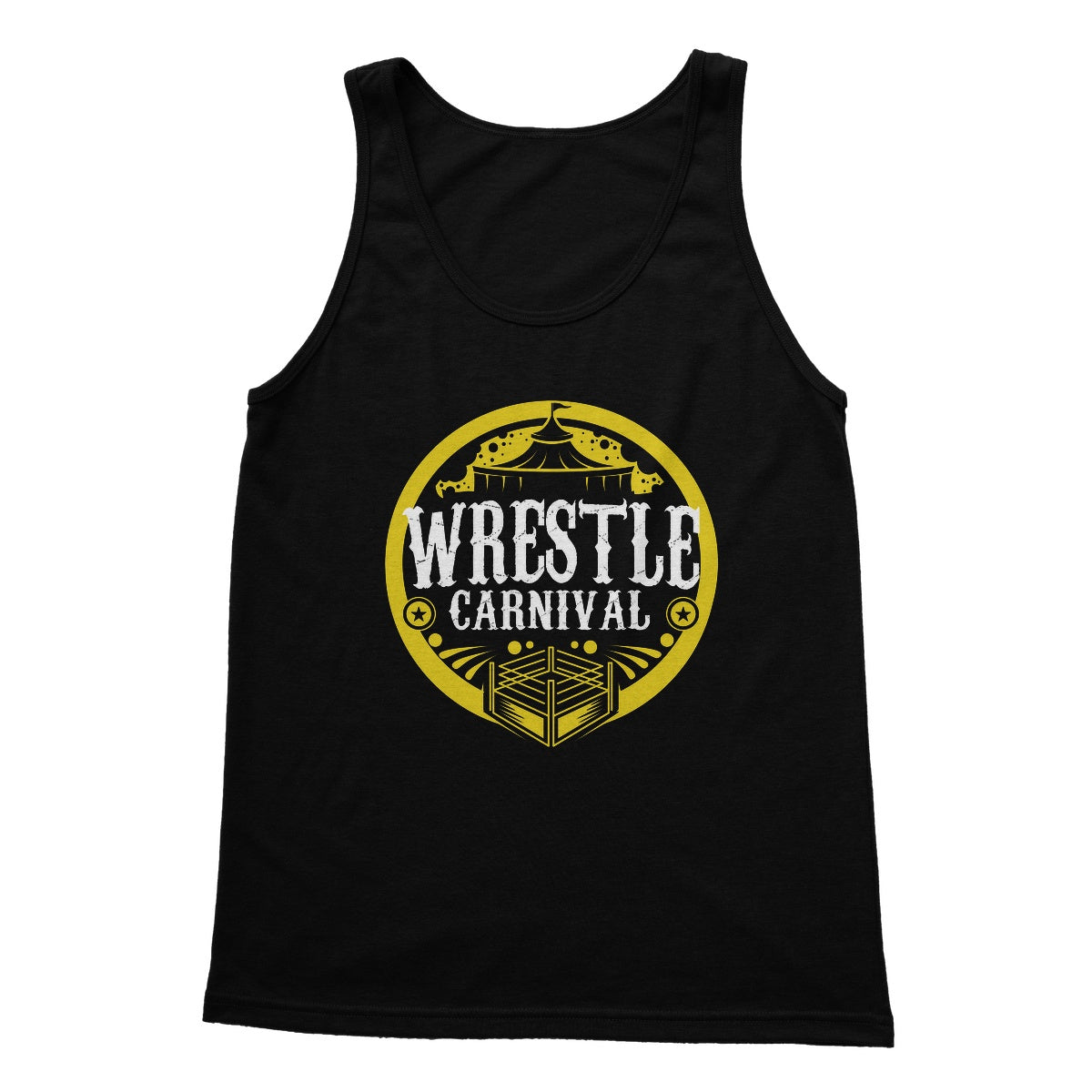 Wrestle Carnival Gold Logo Softstyle Tank Top