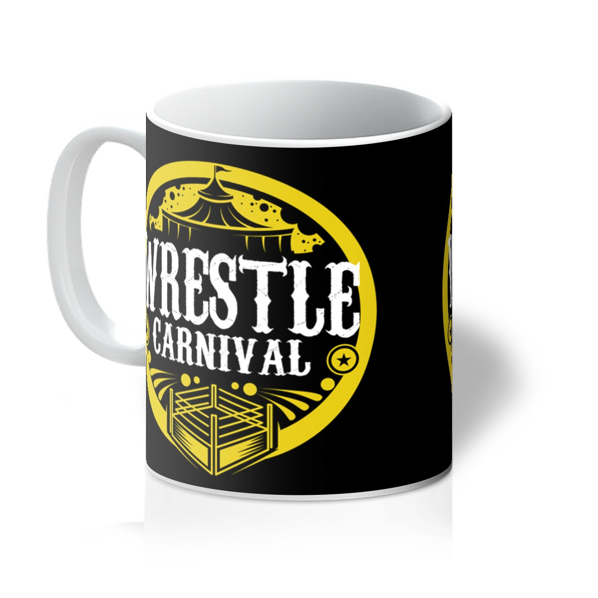 Wrestle Carnival Gold Logo Mug