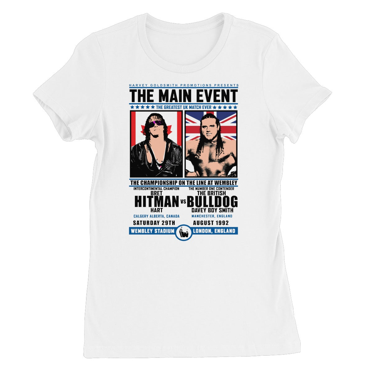 Main Event: HITMAN Vs BULLDOG Wembley 92 Women's Short Sleeve T-Shirt