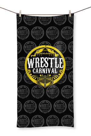 Wrestle Carnival Gold Logo Towel
