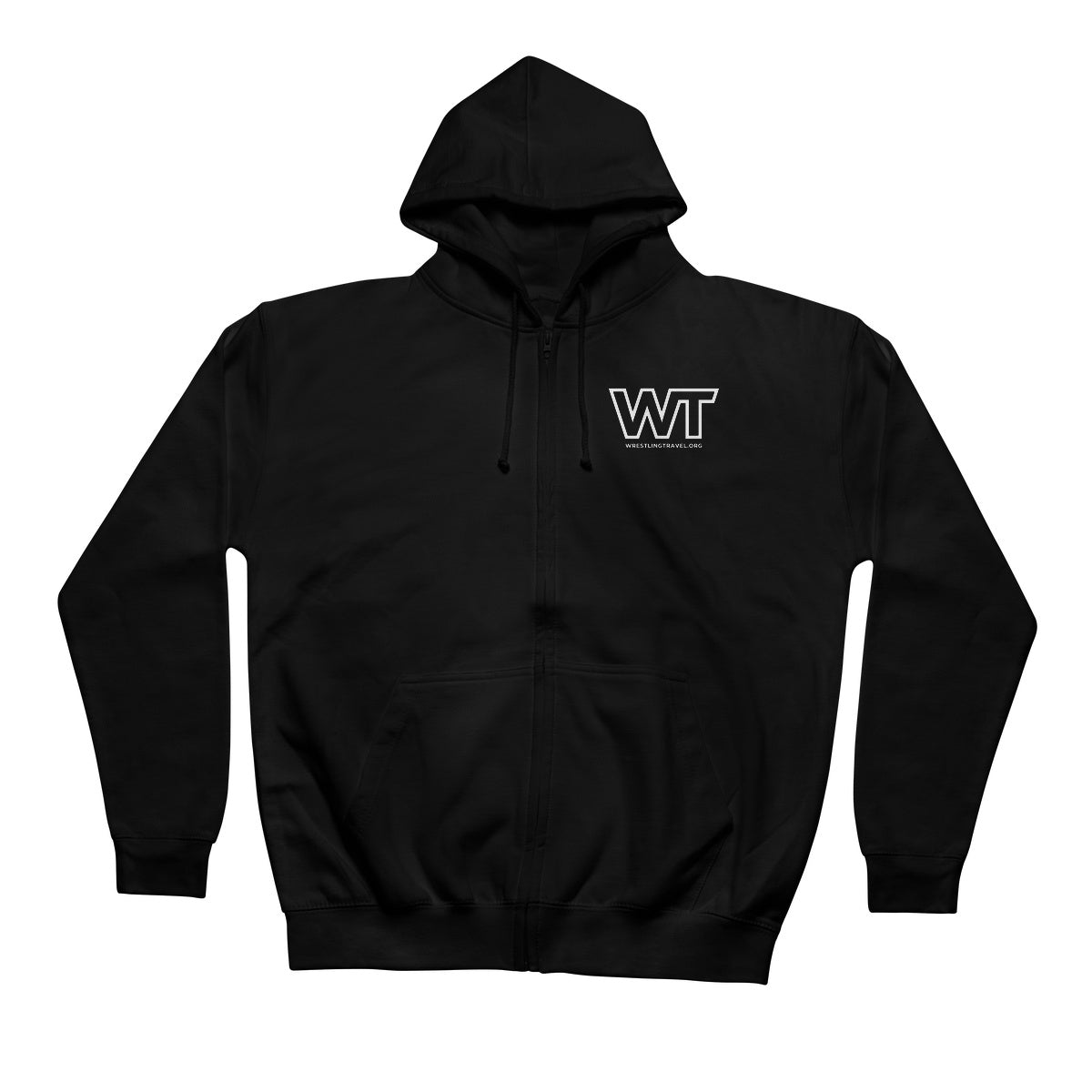 Wrestling Travel Logo Retail Zip Hoodie