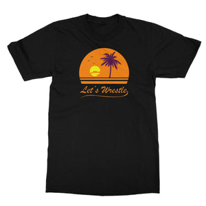 Let's Wrestle Sunset Softstyle T-Shirt