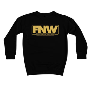Fight! Nation Wrestling Gold Logo Kids Sweatshirt