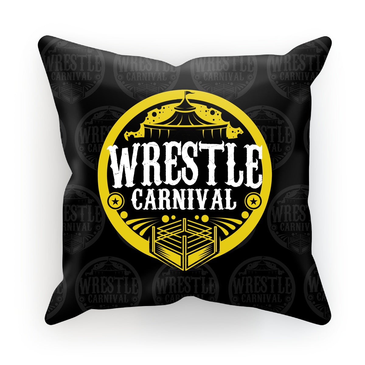 Wrestle Carnival Gold Logo Cushion