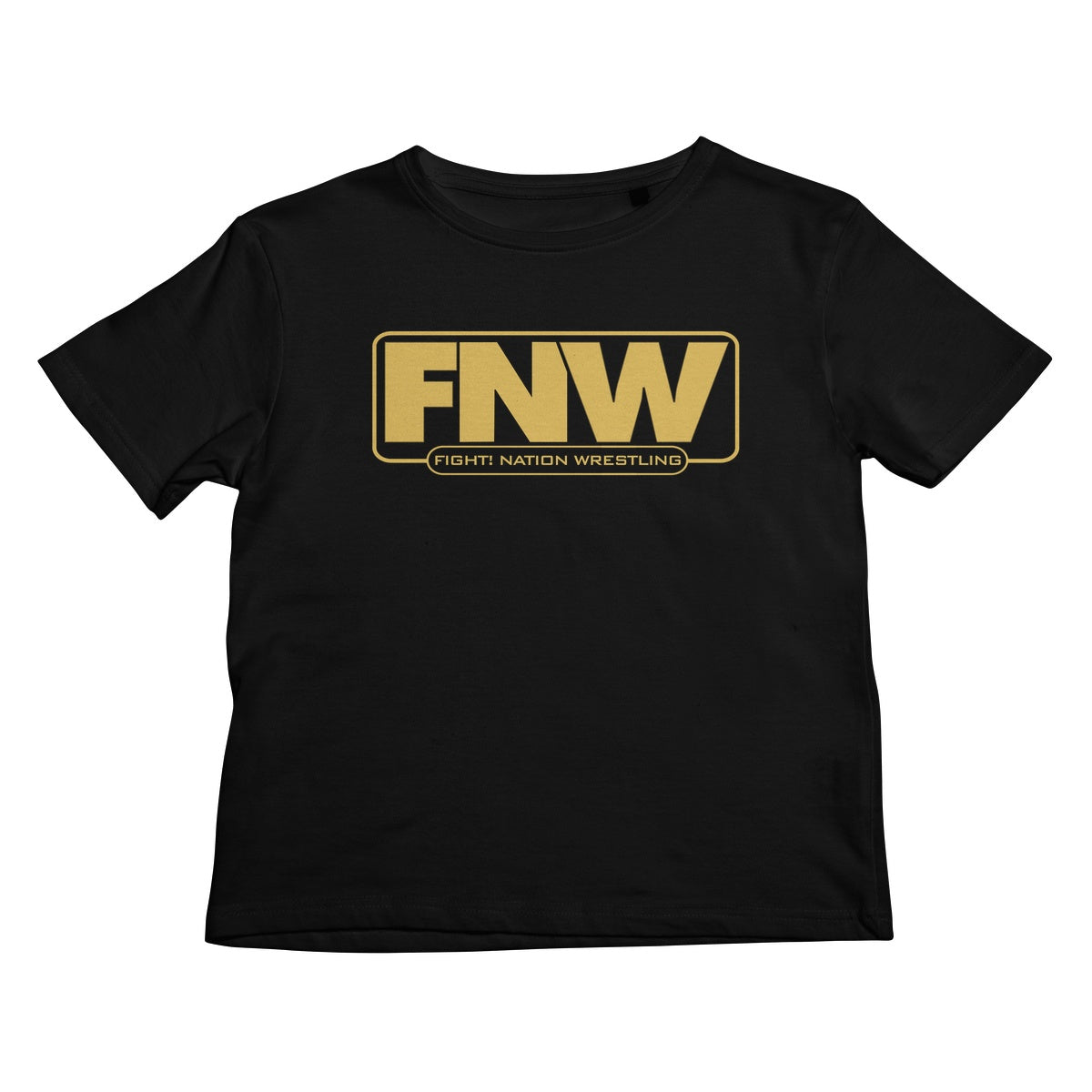 Fight! Nation Wrestling Gold Logo Kids T-Shirt