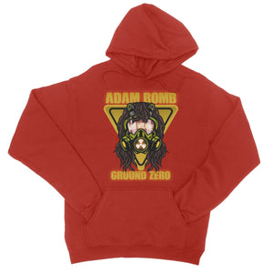 Adam Bomb Gas Mask College Hoodie