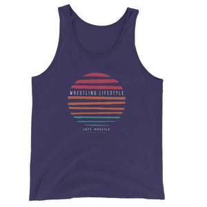 Let's Wrestle Wrestling Lifestyle Unisex Jersey Tank Top