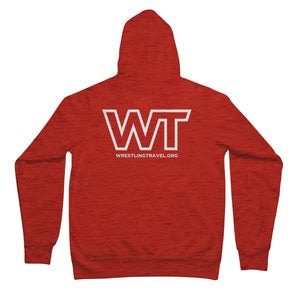 Wrestling Travel Logo Unisex Full Zip Hoodie