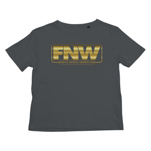 Fight! Nation Wrestling Gold Shade Logo Kids T-Shirt