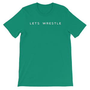 Let's Wrestle Logo Unisex Short Sleeve T-Shirt