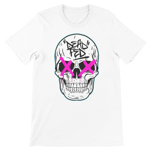 Johnny Dead Fed - White/Pink Unisex Short Sleeve T-Shirt