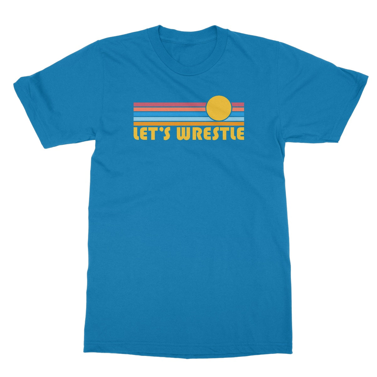Let's Wrestle Summer Waves Softstyle T-Shirt