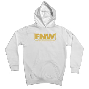 Fight! Nation Wrestling Gold Logo Kids Hoodie