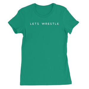 Let's Wrestle Logo Women's Short Sleeve T-Shirt