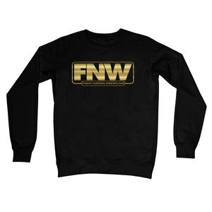 Fight! Nation Wrestling Gold Shade Logo Crew Neck Sweatshirt