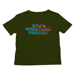 Stu's Wrestling Podcast Logo Kids T-Shirt