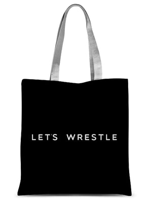 Let's Wrestle Wrestling Lifestyle UK Sublimation Tote Bag