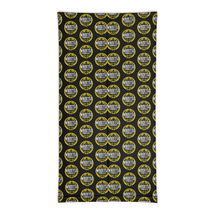 Wrestle Carnvial Gold Logo Pattern Neck Gaiter