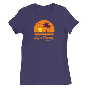 Let's Wrestle Sunset Women's Short Sleeve T-Shirt