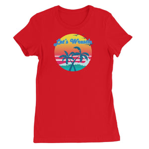 Let's Wrestle Tropical Heat Wave Women's Short Sleeve T-Shirt
