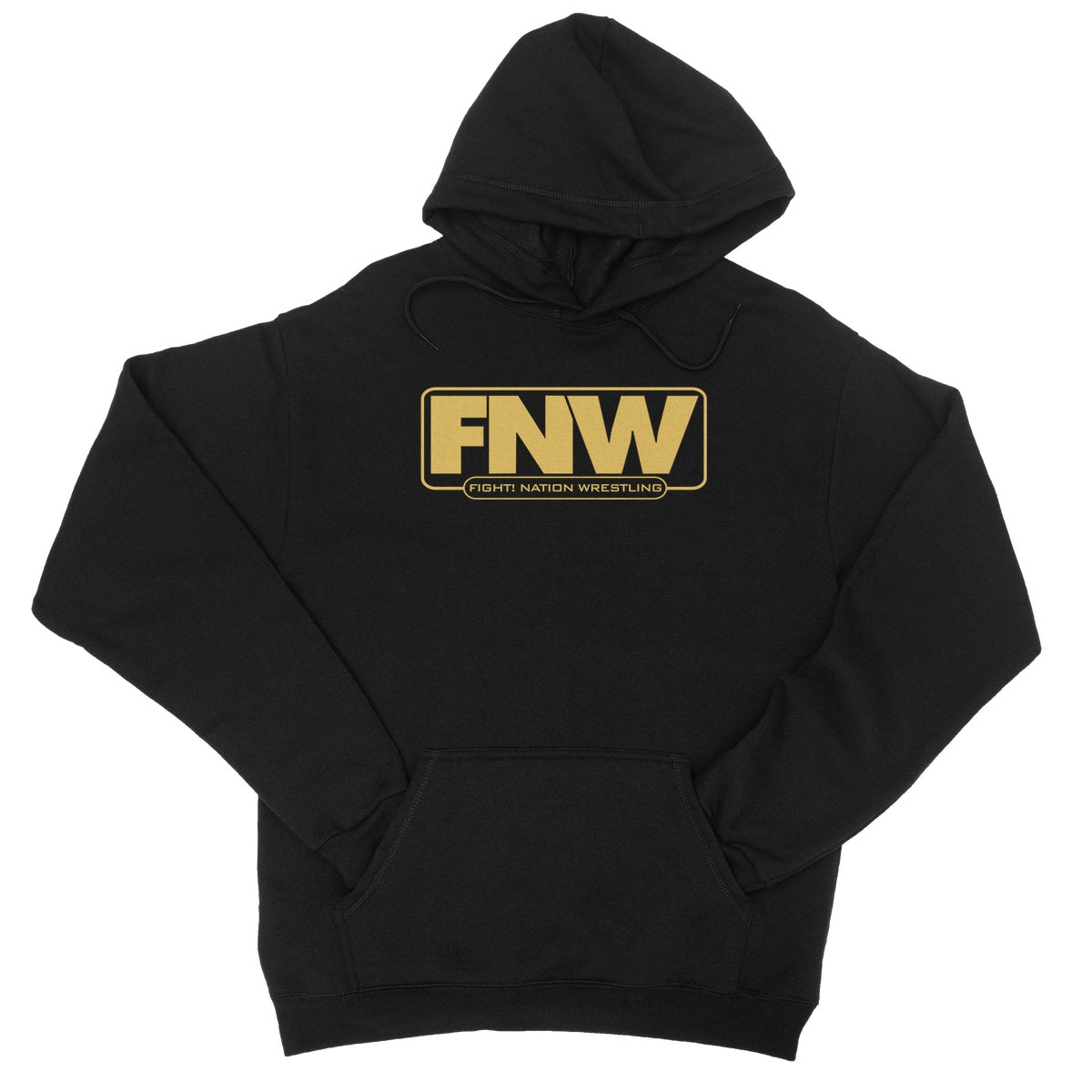 Fight! Nation Wrestling Gold Logo College Hoodie