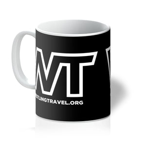 Wrestling Travel Logo Mug