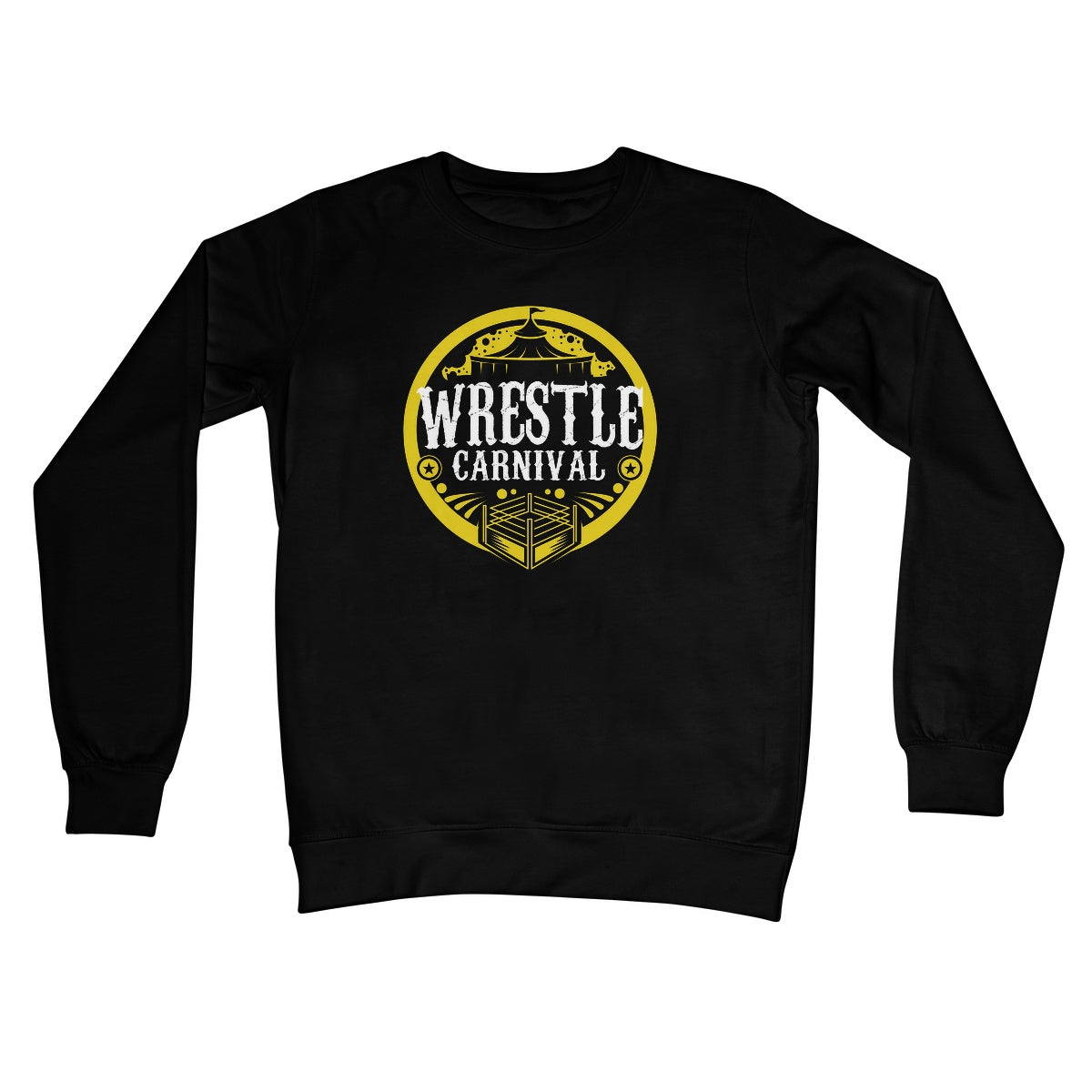 Wrestle Carnival Gold Logo Crew Neck Sweatshirt