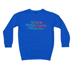 Stu's Wrestling Podcast Logo Kids Sweatshirt