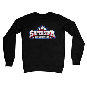 Superstar Pro Wrestling Logo Crew Neck Sweatshirt